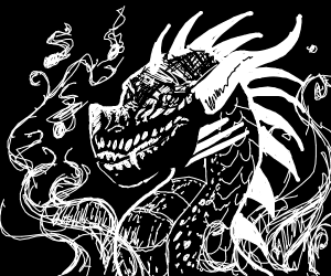 Monochromatic Chinese New Year Dragon
