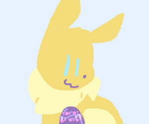 Eevee with an Easter egg