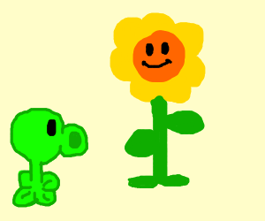 Plants V Zombies: Pea Shooter & sunflower