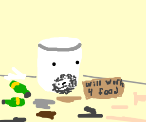 Marshmellow is homeless