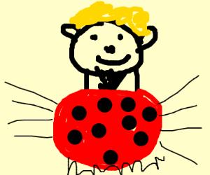 Ladybug and a man