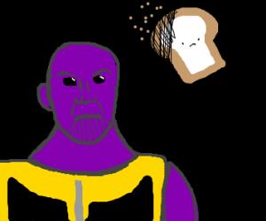 thanos snaps away toast