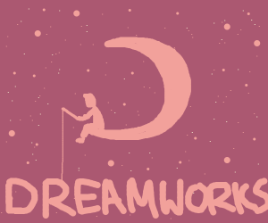 Dreamworks fishing person in moon
