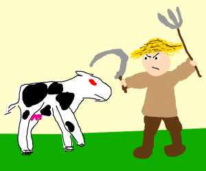 Angry Cow vs Annoyed Farmer