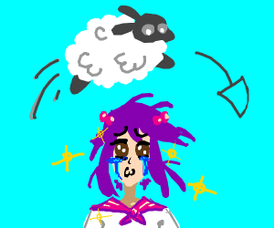 the sheep jumped over the sad anime
