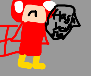 The flash is sad