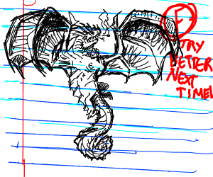 Student draws dragon on calculus exam, fails