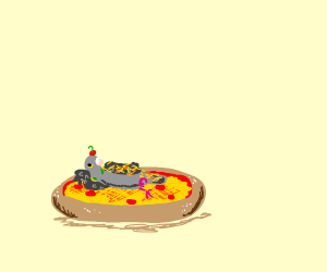 Pigeon pizza