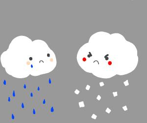 emotional dispute between clouds