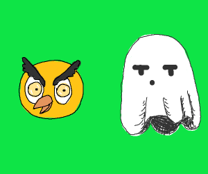 Owl and ghost
