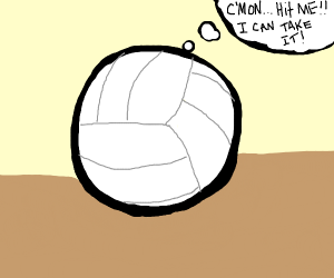 volleyball wants to be hit