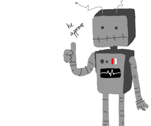 robot man approved