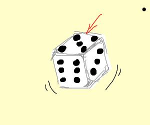 a dice lands on 5