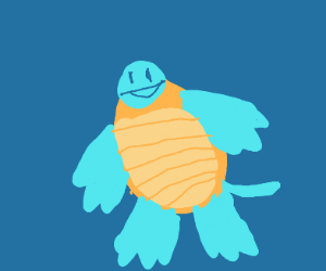 Squirtle with a tiny head