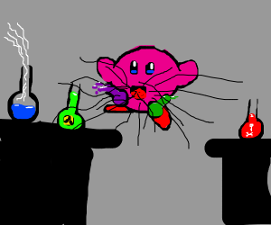 kirby causes a lab accident.