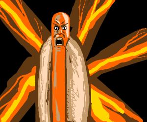 angry hotdog