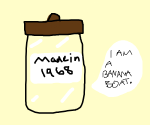 50 year old jar identifys as banana boat
