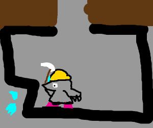 Moles going caving