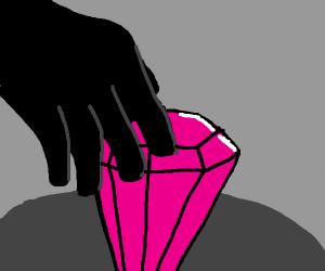 robber steals big pink gem