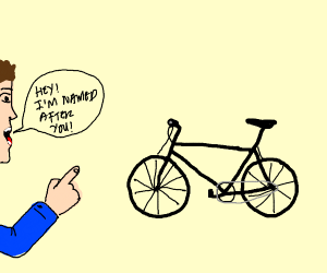 A man named Bicycle