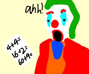 Joker afraid of math