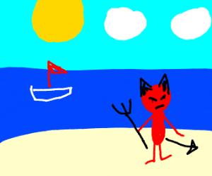 demon on the beach :)