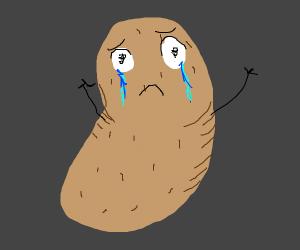 cryring potato