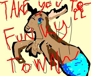 Sea raindeer listening to Funkytown