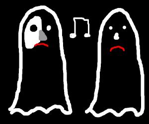 Opera ghosts are sad