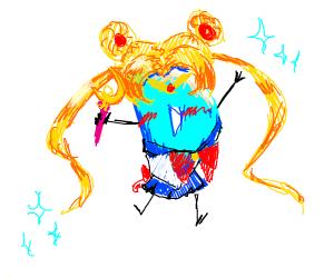 drawception cosplays as sailor moon
