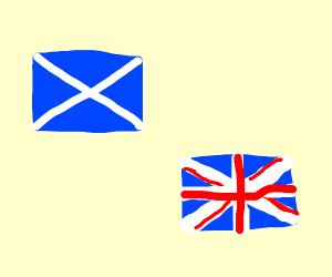 UK and Scotland's flags