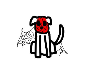 Spiderman dog