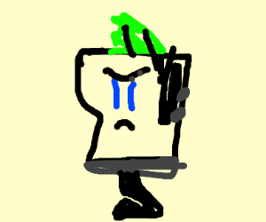 Duncan from Total Drama with one leg