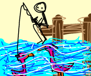 Fishing for flamingos