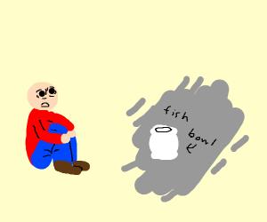 Traumatized by a fish bowl