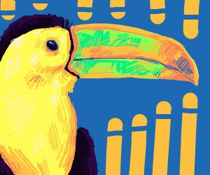 Hyper-realistic toucan
