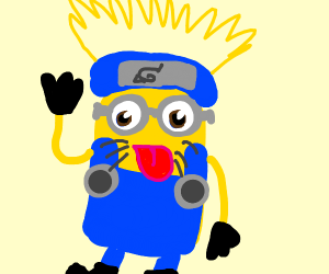 Minion Dressed As Naruto