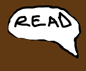 chat bubble saying read