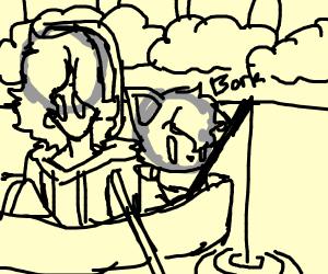 dogo goes fishing
