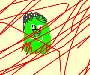 Green man bleeding zombie