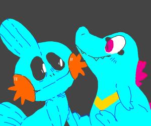 Mudkip and Totodile