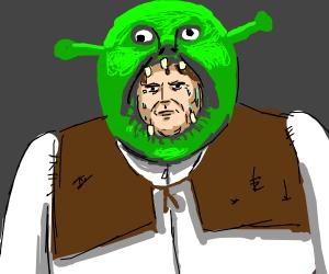 guy in shrek costume