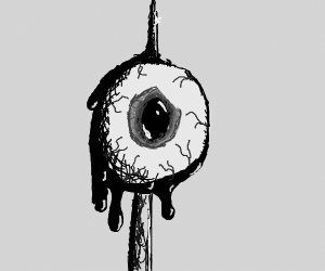 Eyeball on a spike