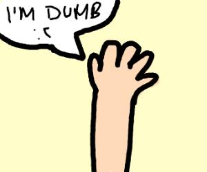 unintelligent hand