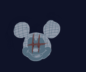 Mickey Mouse: Ghost satanic edition