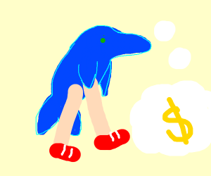 Legged dolphin ponders finance