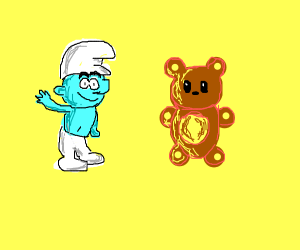 Smurf and Teddy Bear