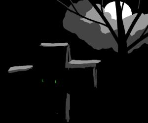 Zombieesque grave