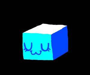 Blue block goes UwU