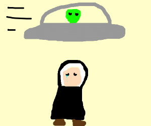 Alien ship neglects to abduct nun